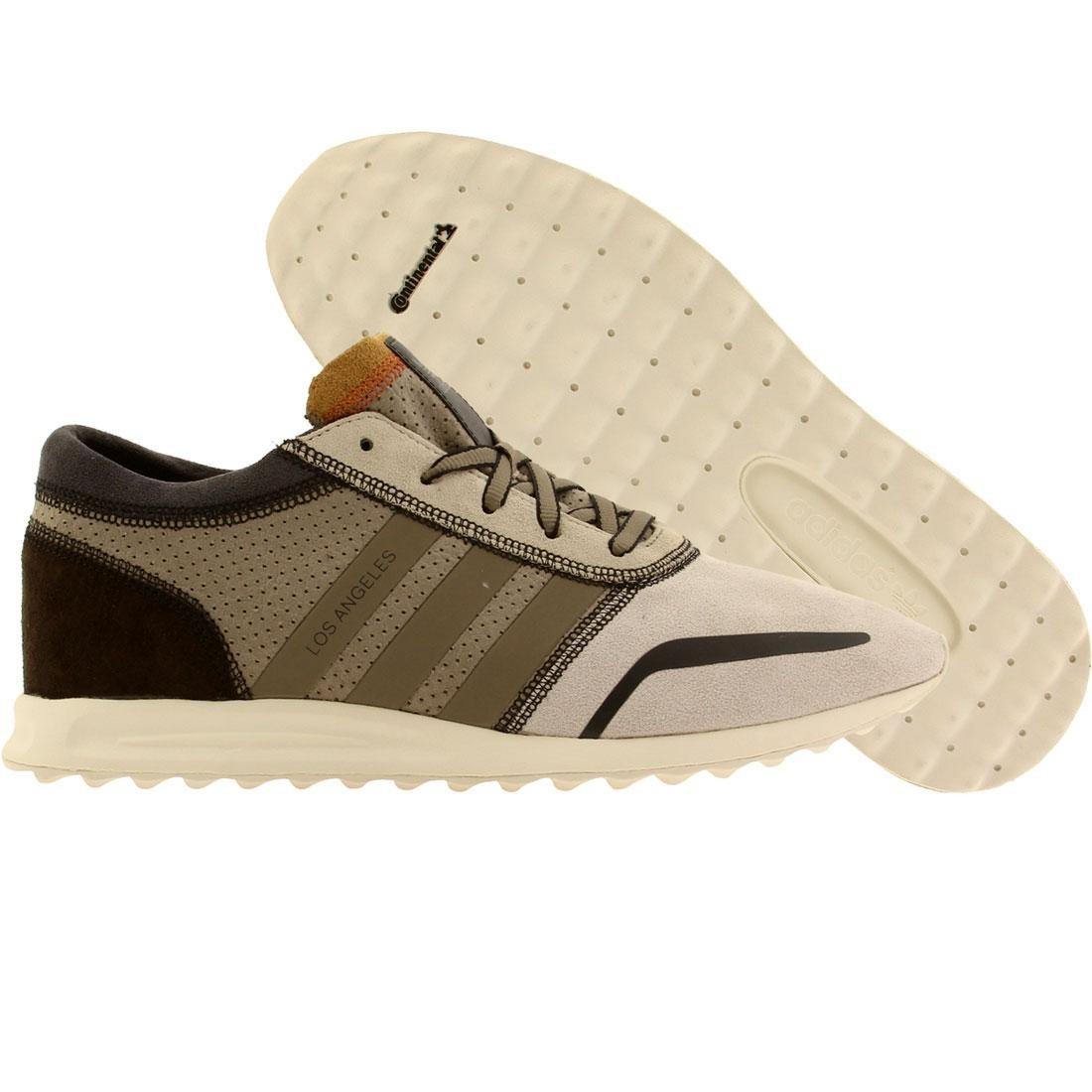 【海外限定】アディダス 茶 ブラウン コア スニーカー メンズ靴 【 ADIDAS BROWN MEN LOS ANGELES GRAY LIGHT CORE BLACK 】