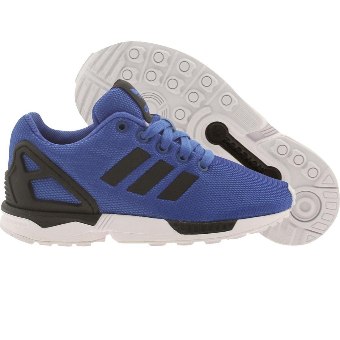 【海外限定】アディダス 黒 ブラック 靴 キッズ 【 ADIDAS BLACK LITTLE KIDS ZX FLUX K BLUE FTWWHT 】