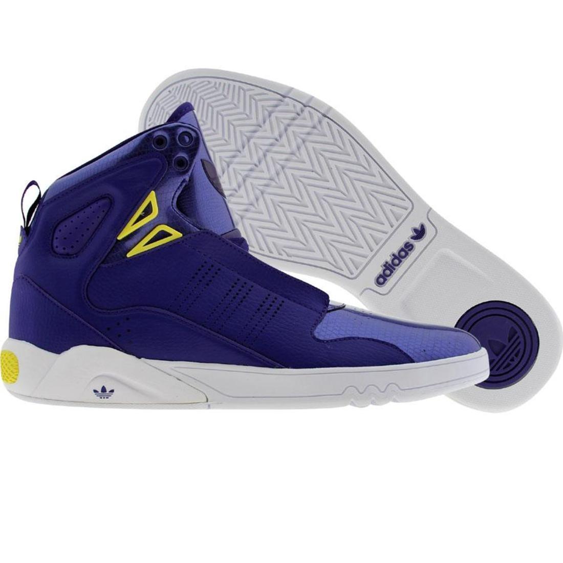 【海外限定】アディダス ミッド 紫 パープル 黄色 イエロー 2.0 メンズ靴 スニーカー 【 ADIDAS PURPLE YELLOW ROUNDHOUSE MID CO PRI RUNNINWHITE 】