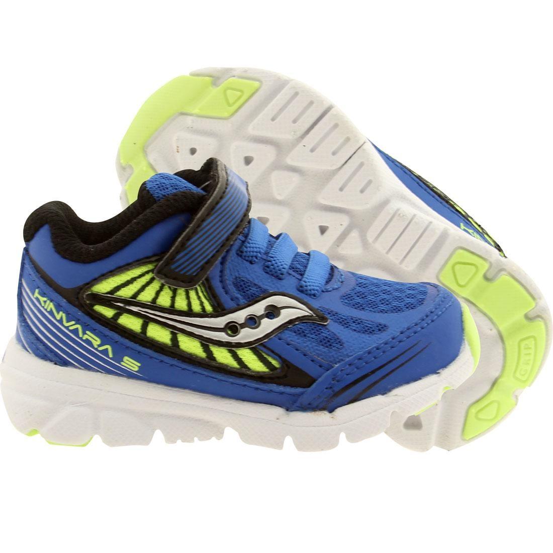 【海外限定】サッカニー スニーカー 靴 【 SAUCONY TODDLERS KINVARA 5 BLUE CITRON 】