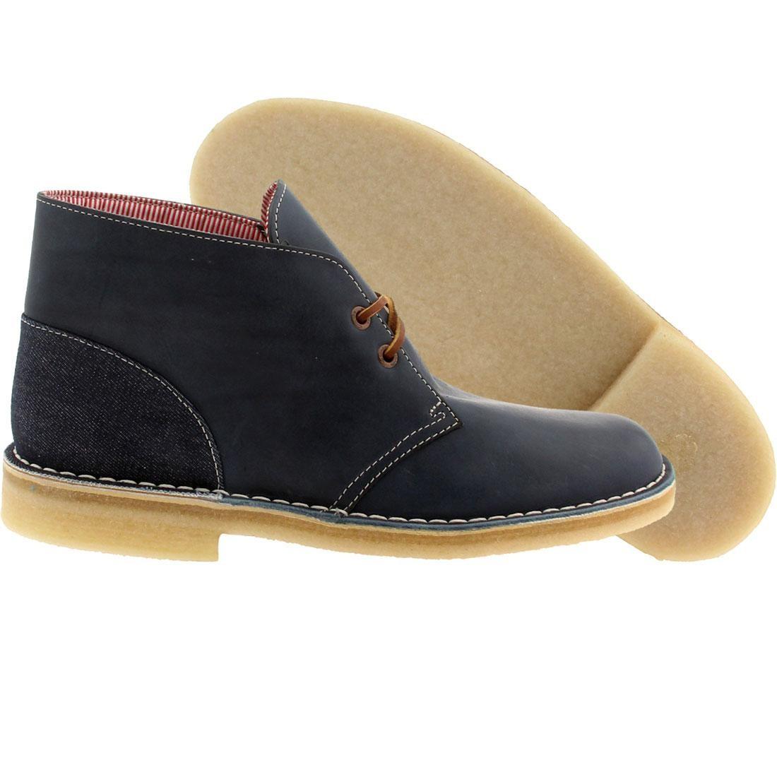 【海外限定】クラークス サプライ ブーツ 青 ブルー スニーカー 靴 【 SUPPLY BLUE CLARKS X HERSCHEL CO MEN DESERT BOOT COMBI 】