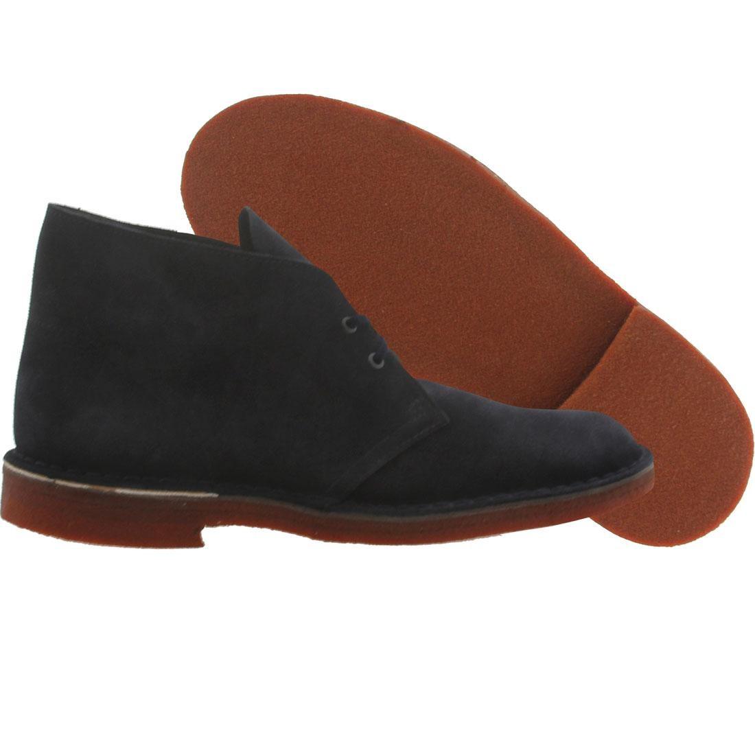 【海外限定】クラークス ブーツ スエード スウェード 靴 スニーカー 【 CLARKS MEN DESERT BOOT SUEDE NAVY BRICK CREPE 】