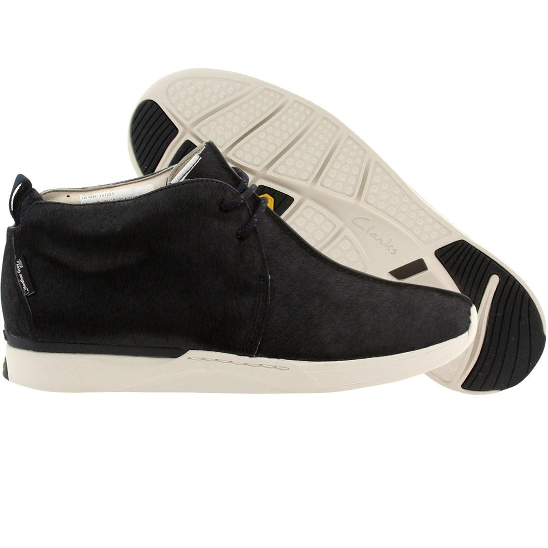 【海外限定】クラークス ヘザー 灰色 グレー グレイ ブーツ スニーカー メンズ靴 【 HEATHER GRAY CLARKS X WALL MEN TRAXTER BOOT NAVY 】