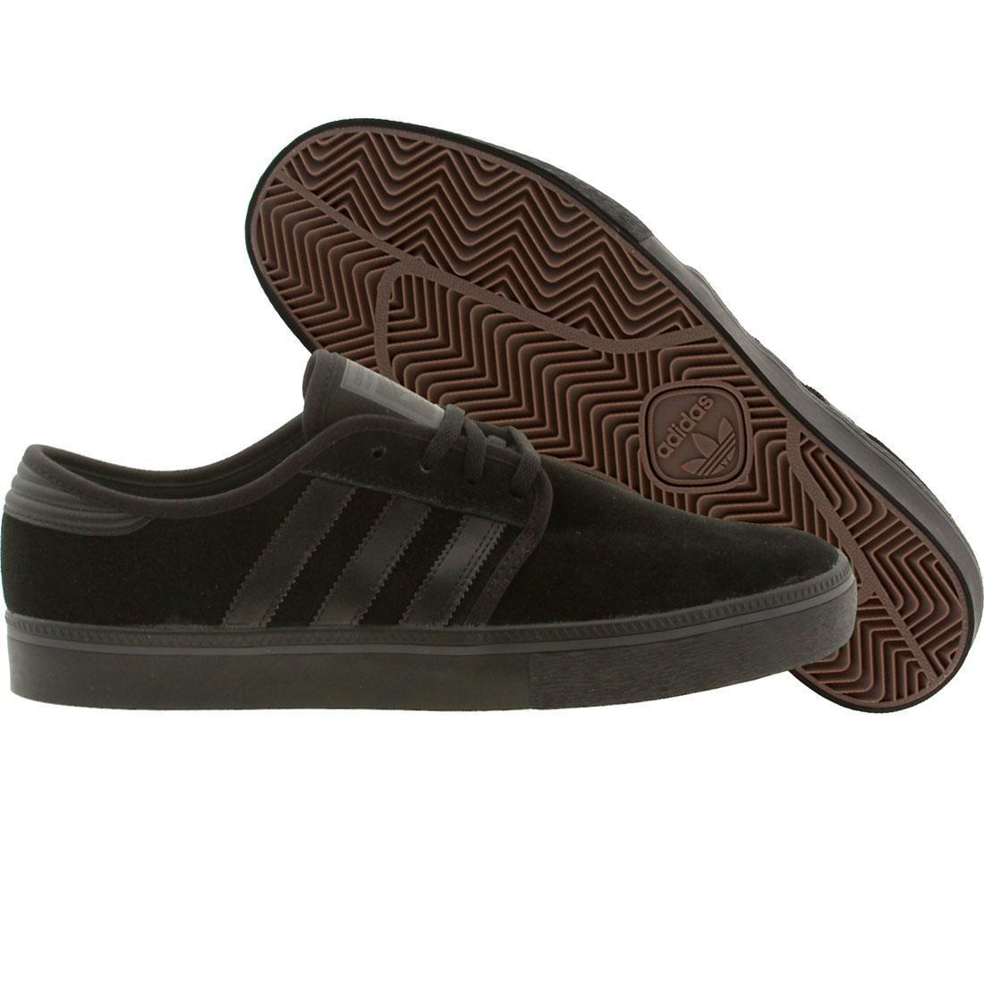 【海外限定】アディダス スケート 靴 スニーカー 【 ADIDAS SKATE MEN SEELEY ADV BLACK CBLACK 】