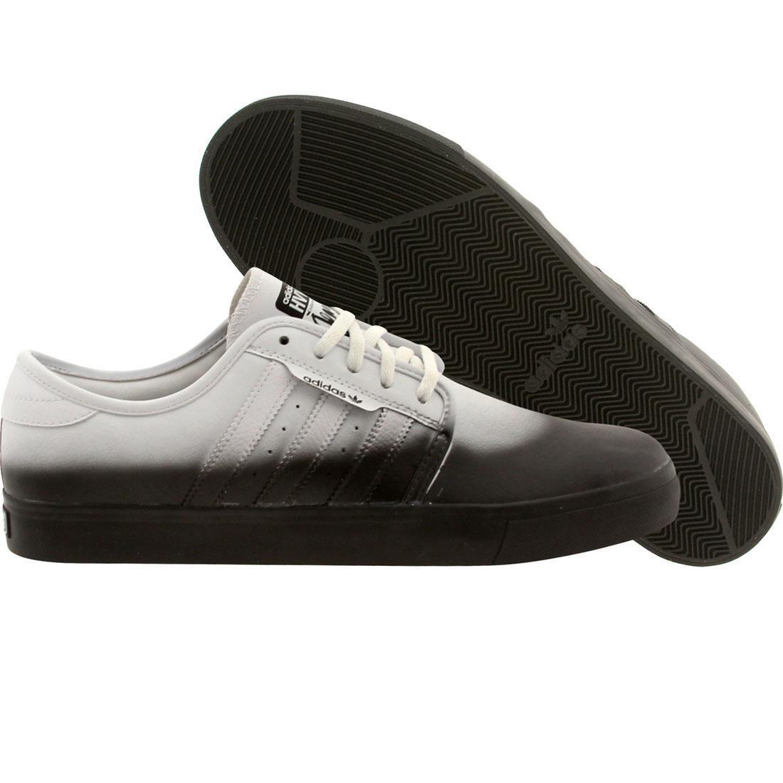 【海外限定】アディダス スケート 白 ホワイト スニーカー メンズ靴 【 ADIDAS SKATE WHITE X HVW8 MEN SEELEY BLACK 】
