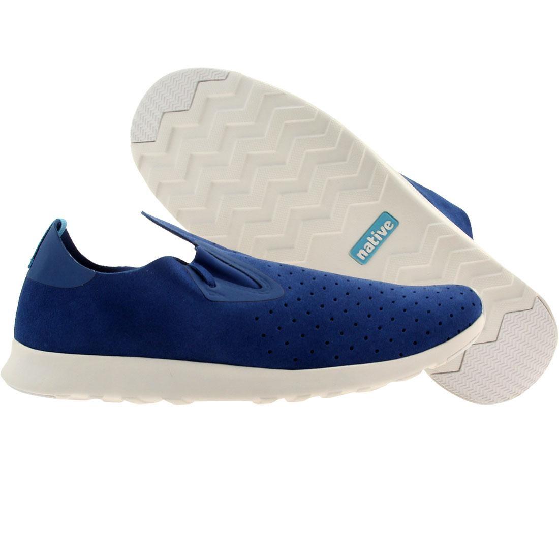 【海外限定】ネイティブ 青 ブルー シェル 白 ホワイト スニーカー メンズ靴 【 BLUE SHELL WHITE NATIVE MEN APOLLO MOC VICTORIA RUBBER 】