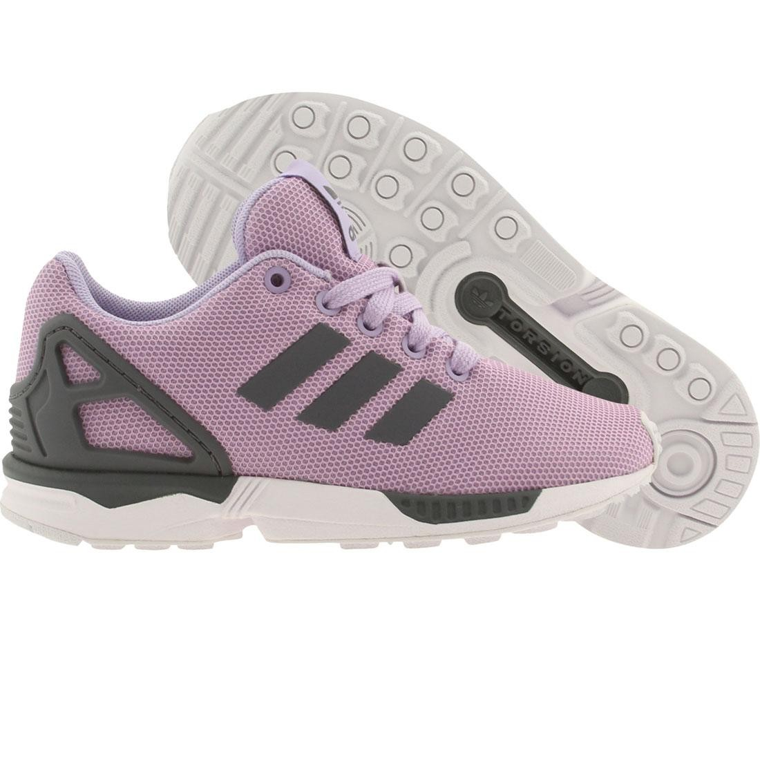【海外限定】アディダス キッズ ベビー 【 ADIDAS LITTLE KIDS ZX FLUX K PURPLE GLOPUR ONIX FTWWHT 】