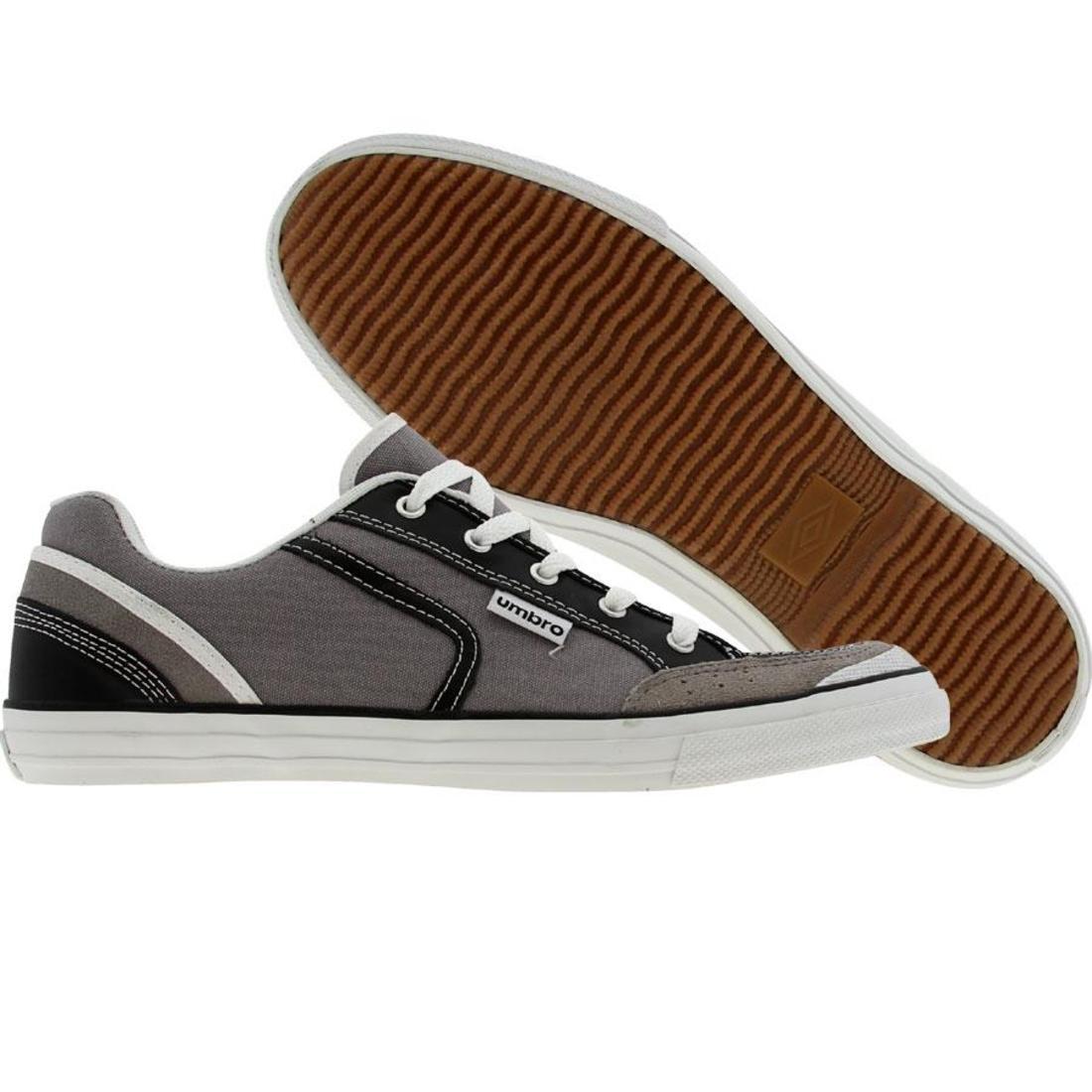 【海外限定】黒 ブラック 靴 メンズ靴 【 BLACK UMBRO OLDHAM CANVASA GREY WHITE 】
