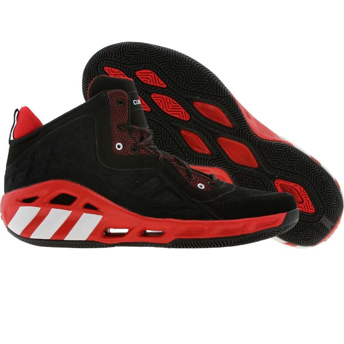 【海外限定】アディダス クレイジー クール 靴 メンズ靴 【 ADIDAS CRAZY COOL BLACK RUNNINWHITE LIGHT SCARLET 】