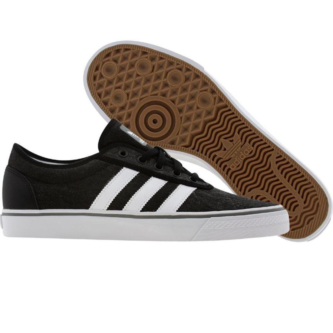 【海外限定】アディダス スケート カレッジ スニーカー メンズ靴 【 ADIDAS SKATE ADI EASE BLACK RUNNINWHITE COLLEGE AQUA 】