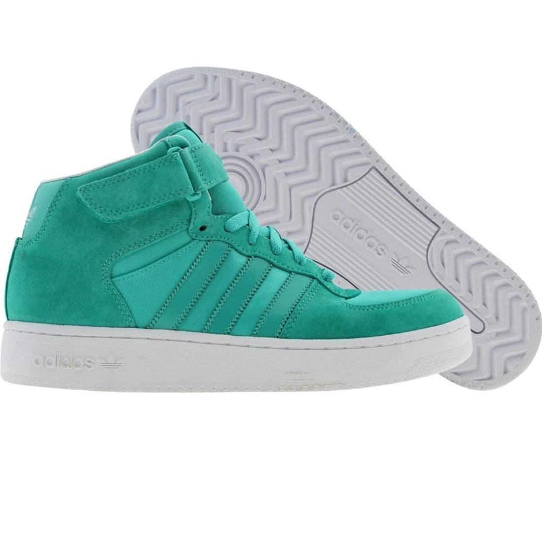 【海外限定】アディダス フォーラム ミッド 緑 グリーン スニーカー 靴 【 ADIDAS GREEN FORUM ADV MID PURE WHITE 】【送料無料】