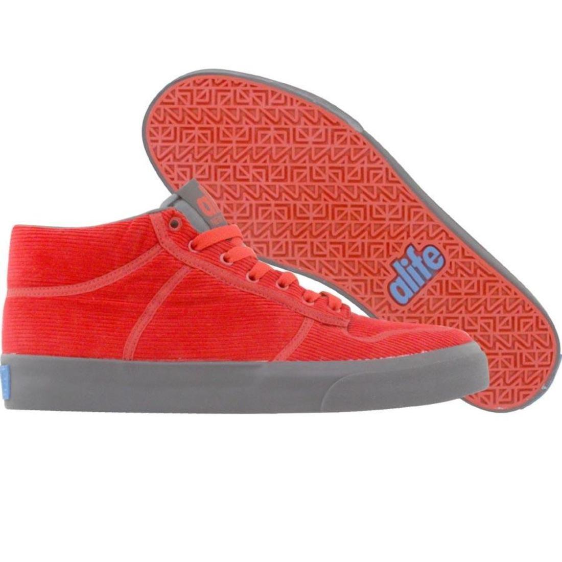 【海外限定】エーライフ ミッド コーデュロイ スニーカー メンズ靴 【 ALIFE EVERYBODY MID CORDUROY RED 】