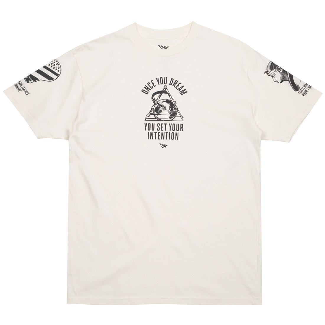 Tシャツ 茶 ブラウン 砂色 サンド 【 BROWN PAPER PLANES MEN TRIFECTA TEE SAND 】 メンズファッション トップス Tシャツ カットソー