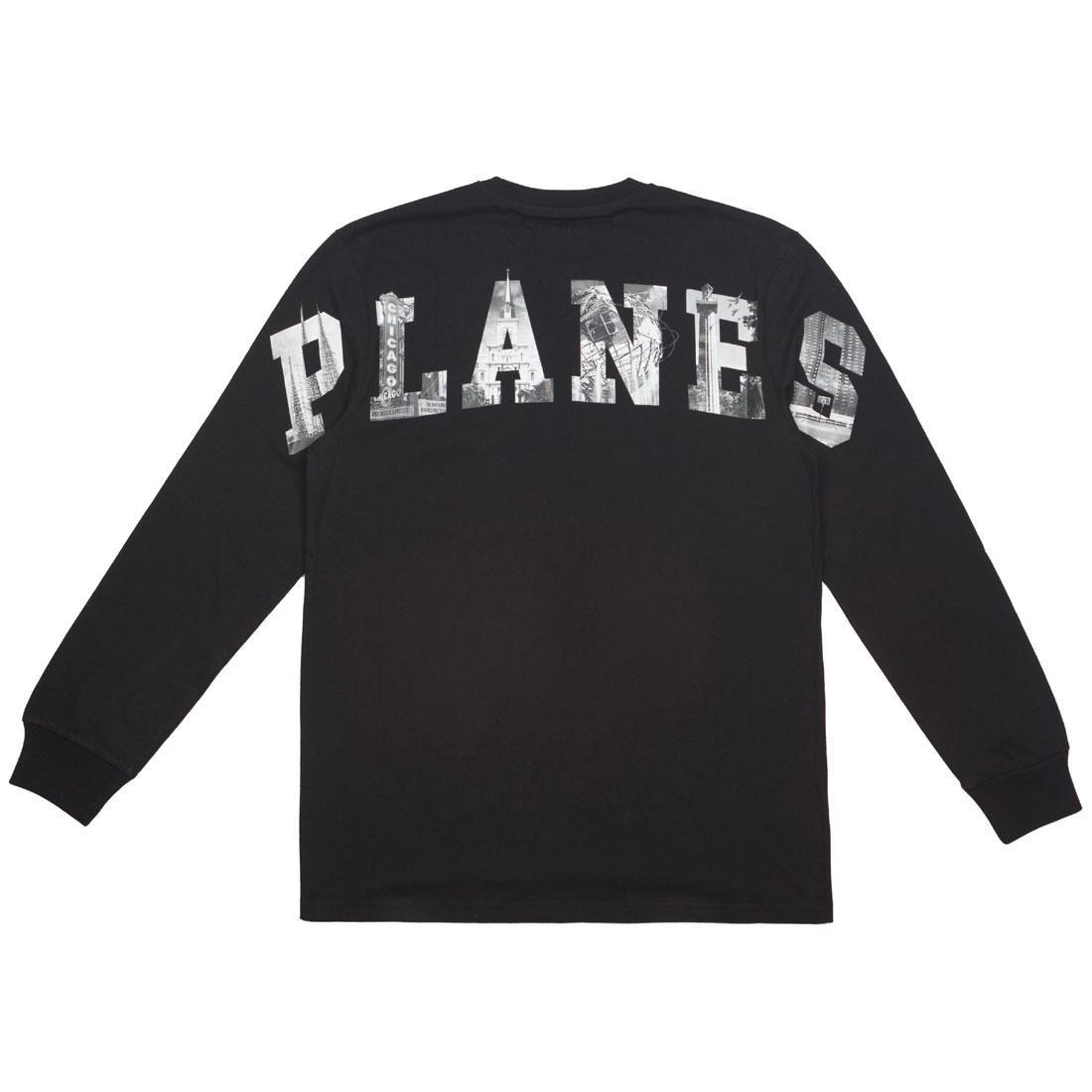【スーパーセール中! 6/11深夜2時迄】スリーブ Tシャツ メンズファッション トップス カットソー メンズ 【 Paper Planes Men Home Long Sleeve Tee (black) 】 Black