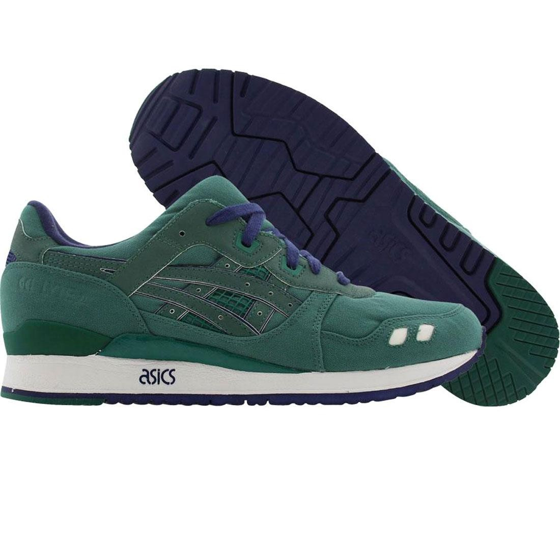 【海外限定】アシックス プレミアム 緑 グリーン 靴 スニーカー 【 ASICS PREMIUM GREEN BAIT X TIGER GELLYTE III 3M RINGS PACK RING OLIVE NAVY 】