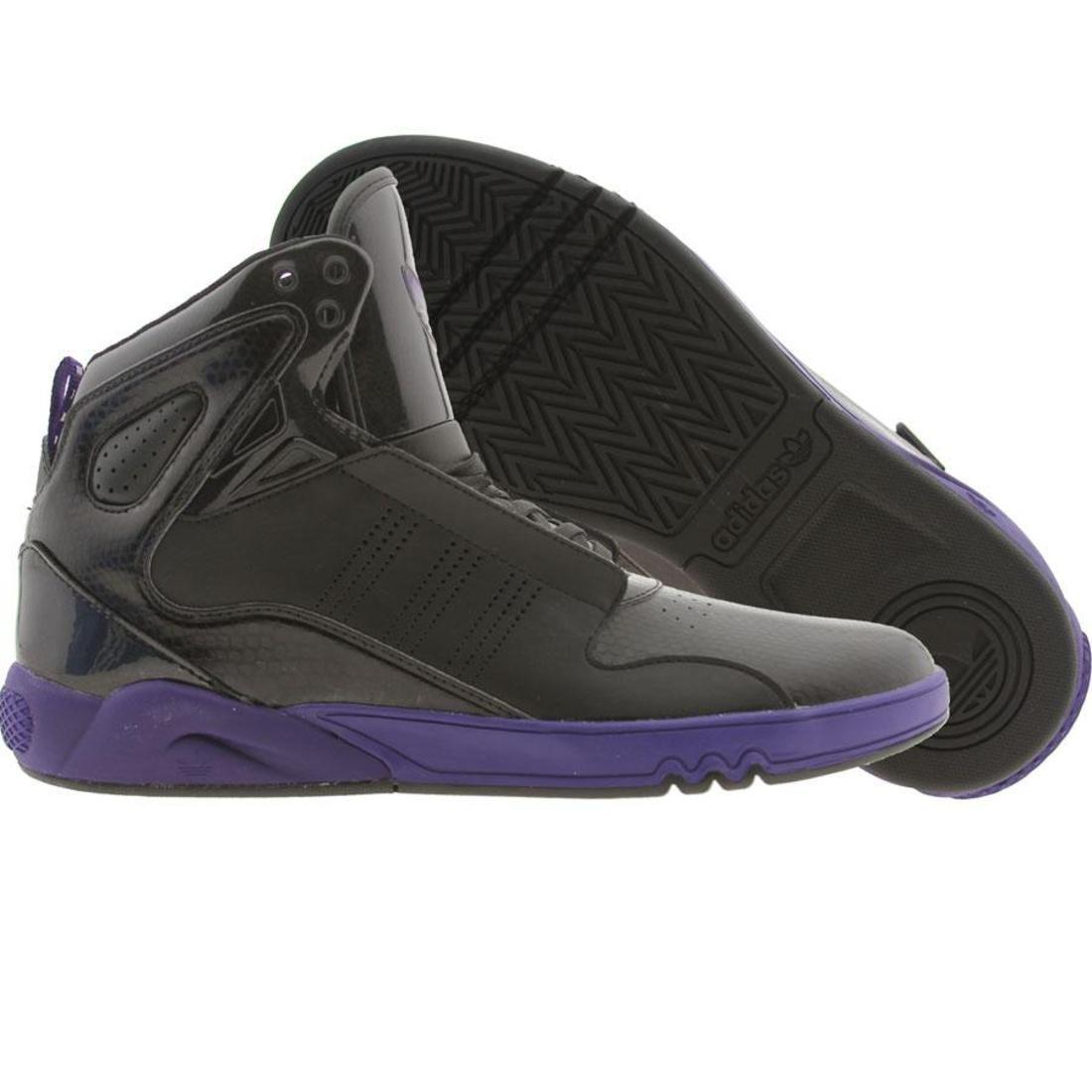 【海外限定】アディダス ミッド 黒 ブラック 2.0 スニーカー メンズ靴 【 ADIDAS BLACK ROUNDHOUSE MID PURPLE 】