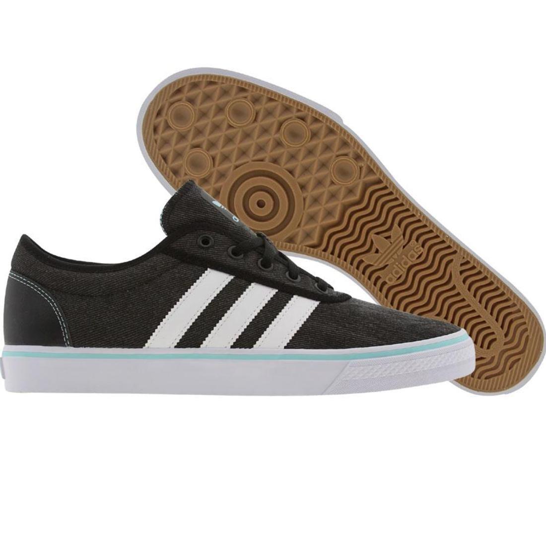 【海外限定】アディダス スケート スニーカー メンズ靴 【 ADIDAS SKATE ADI EASE BLACK RUNNINWHITE OCEAN 】