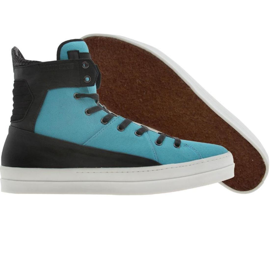 【海外限定】青 ブルー スニーカー 靴 【 BLUE ANDROID HOMME THE GRID CAYENNE BLACK 】