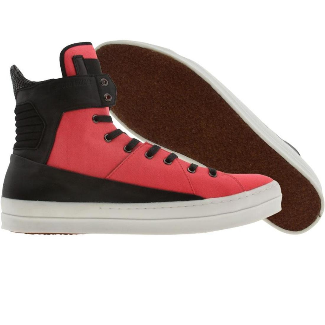 【海外限定】ピンク スニーカー メンズ靴 【 PINK ANDROID HOMME THE GRID CORAL BLACK 】