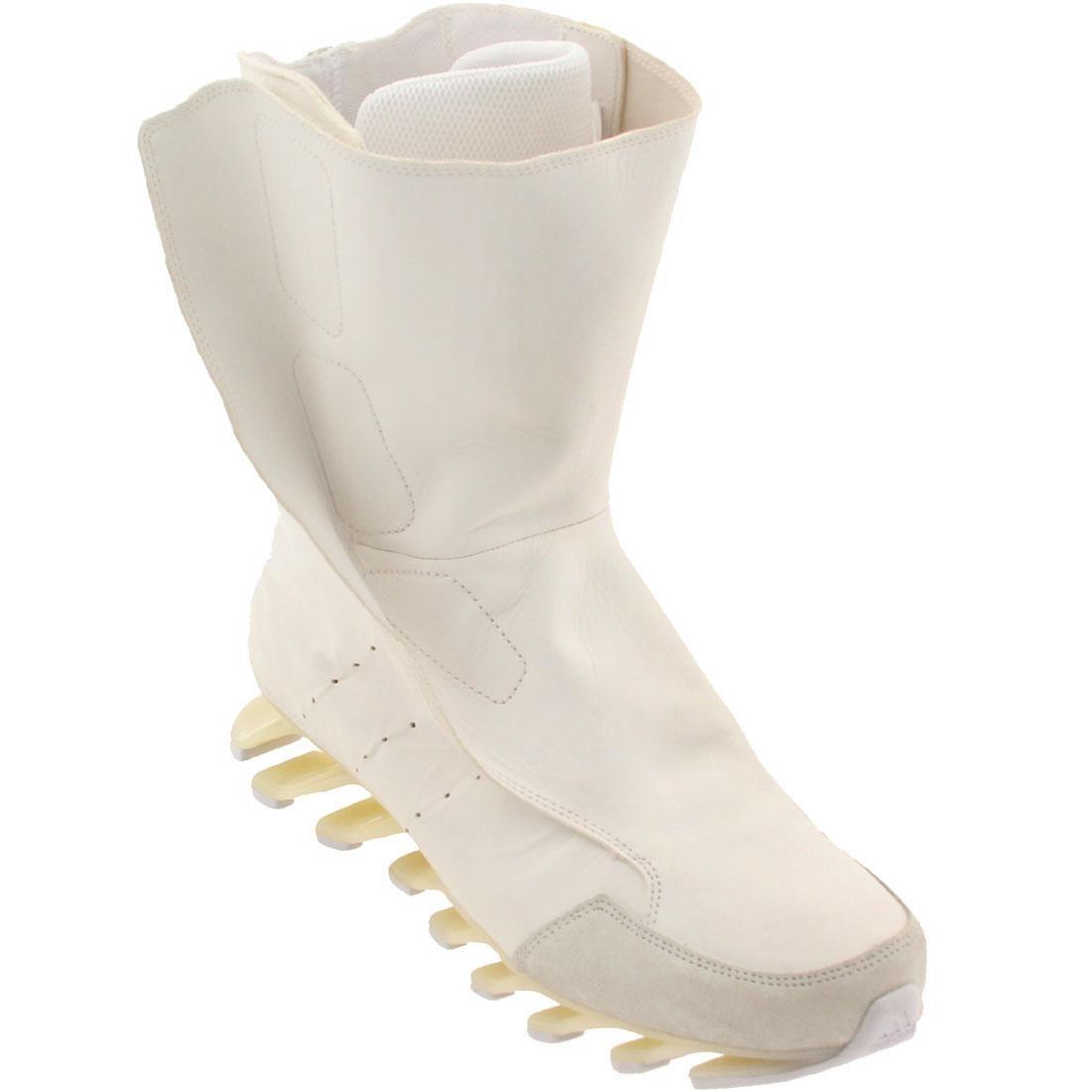 【海外限定】アディダス ハイ 白 ホワイト スニーカー 靴 【 ADIDAS WHITE X RICK OWENS MEN SPRINGBLADE HIGH BOOTS 】