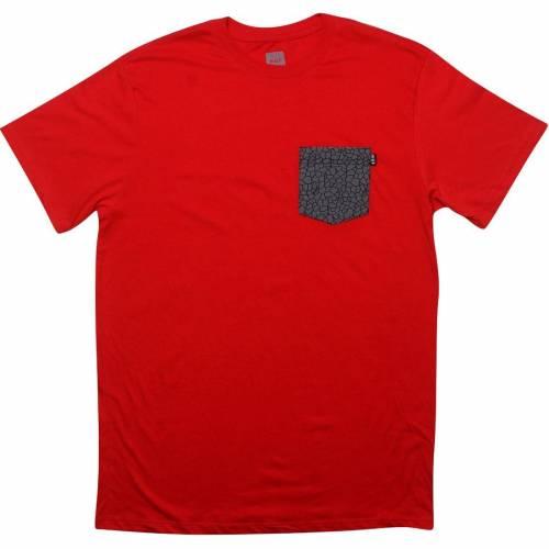 新しい到着 ハフ HUF ハフ Tシャツ QUAKE HUF 赤 レッド【 HUF ハフ RED QUAKE POCKET TEE】 メンズファッション トップス Tシャツ カットソー, 長崎県:44a76728 --- kanvasma.com