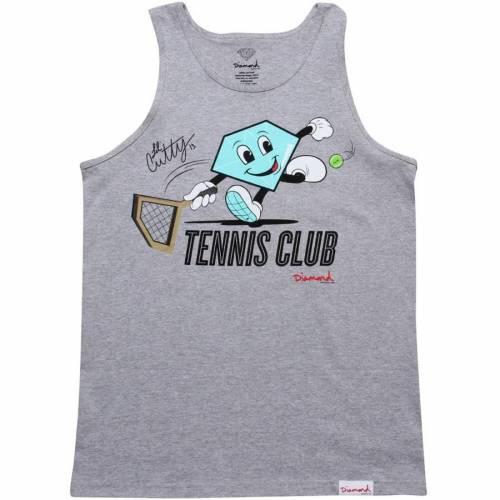 美品 ファッションブランド カジュアル 限定タイムセール ファッション タンクトップ ダイアモンドサプライ DIAMOND SUPPLY CO ダイヤモンド サプライ クラブ メンズファッション トップス テニス CLUB CUTTY HEATHER LIL' TENNIS ヘザー