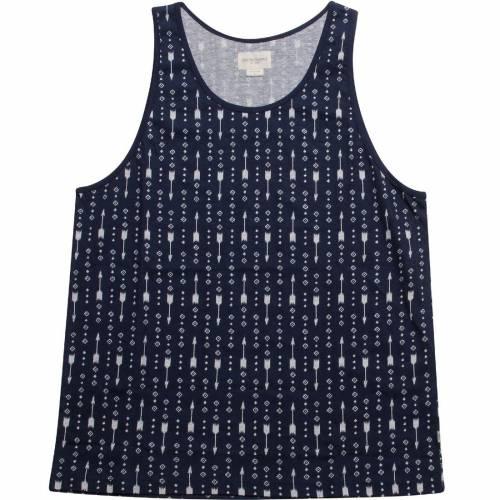 オベイ OBEY アロー タンクトップ 藍色 インディゴ 【 OBEY IKAT ARROW INDIGO 】 メンズファッション トップス タンクトップ