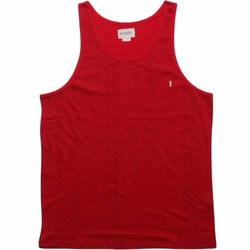 オベイ OBEY タンクトップ 赤 レッド 【 RED OBEY DOTTER 】 メンズファッション トップス タンクトップ