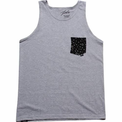 ファッションブランド カジュアル ファッション タンクトップ 灰色 グレー 黒色 正規販売店 ブラック 大注目 メンズファッション トップス POCKET JSLV BLACK FUN GREY