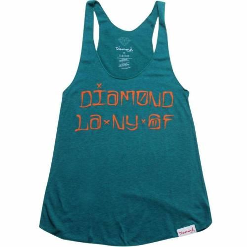 ファッションブランド カジュアル ファッション 割引も実施中 希望者のみラッピング無料 タンクトップ ダイアモンドサプライ DIAMOND SUPPLY CO ダイヤモンド アクア WOMEN レディースファッション CITIES AQUA トップス サプライ