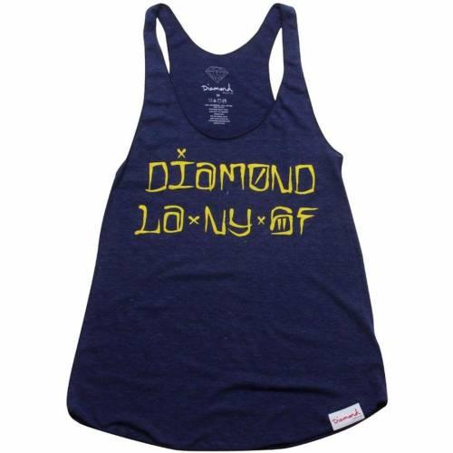 ファッションブランド カジュアル ファッション タンクトップ ダイアモンドサプライ DIAMOND 超歓迎された SUPPLY CO ダイヤモンド サプライ ネイビー 紺色 NAVY 定番の人気シリーズPOINT ポイント 入荷 トップス WOMEN CITIES レディースファッション