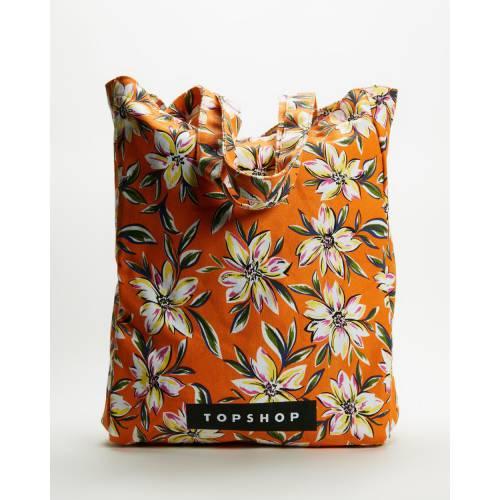 ファッションブランド カジュアル ファッション アクセサリー 再販ご予約限定送料無料 トップショップ 橙 オレンジ 100%品質保証! FLORAL HAWAIIN ORANGE TOPSHOP レディース TOTE