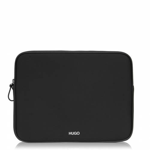 ファッションブランド カジュアル ファッション 超定番 アクセサリー ヒューゴ HUGO ラップトップ バッグ BAG 黒色 001 ブラック RECORD BLACK 正規品 LAPTOP