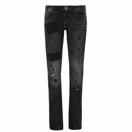 ファッションブランド カジュアル ファッション パンツ PHILIPP PLEIN ジーンズ 黒色 即納 メンズファッション 10GO MILANO BLACK ブラック ズボン 2020秋冬新作 JEANS