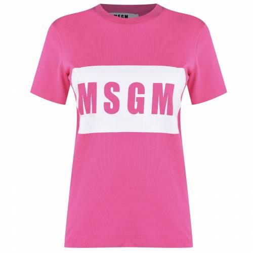 ファッションブランド カジュアル 定番の人気シリーズPOINT ポイント NEW 入荷 ファッション MSGM ロゴ ボックス LOGO レディースファッション トップス T FUSCIA SHIRT BOX 14