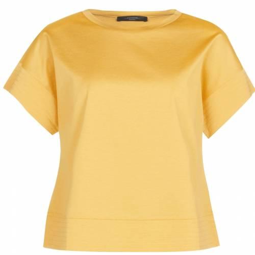 ファッションブランド カジュアル ファッション お気に入 MAX MARA WEEKEND マックス 黄色 BLOUSE レディースファッション 007 トップス YELLOW KNITTED 贈答品 イエロー