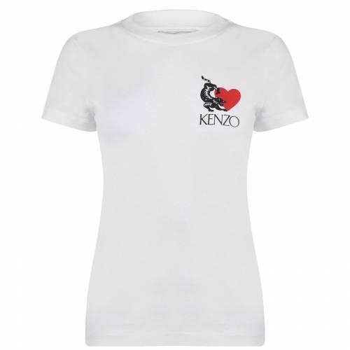ファッションブランド カジュアル ファッション ケンゾー KENZO ロゴ 白色 ホワイト SMALL トップス T (人気激安) レディースファッション 価格交渉OK送料無料 SHIRT WHITE 01 LOGO