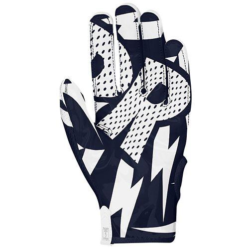 navy nike football gloves