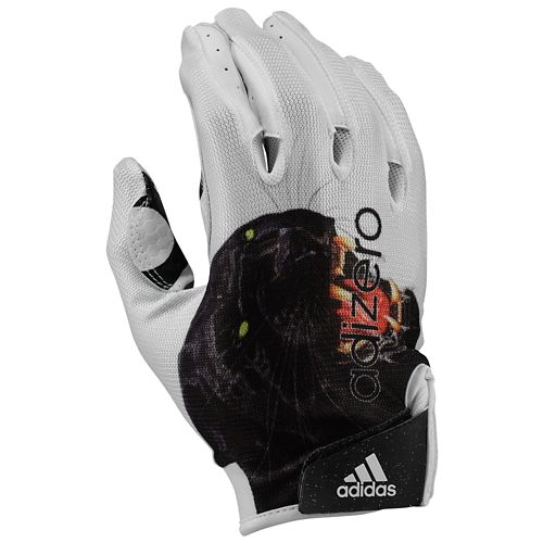 阿迪达斯ADIDAS UNCAGED RECEIVER接收机GLOVES MENS人WHITE白、白手套