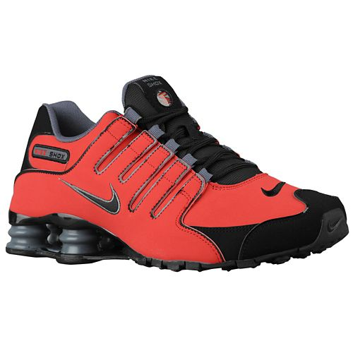 耐克休闲鞋男鞋鞋耐克出品的 SHOX 出品的 Shox NZ 男装男子大学红红红黑黑黑灰色深灰色灰色灰色运动鞋