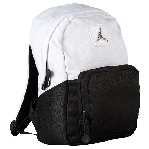 47e4cd0622b Buy black and white jordan backpack   up to 53% Discounts