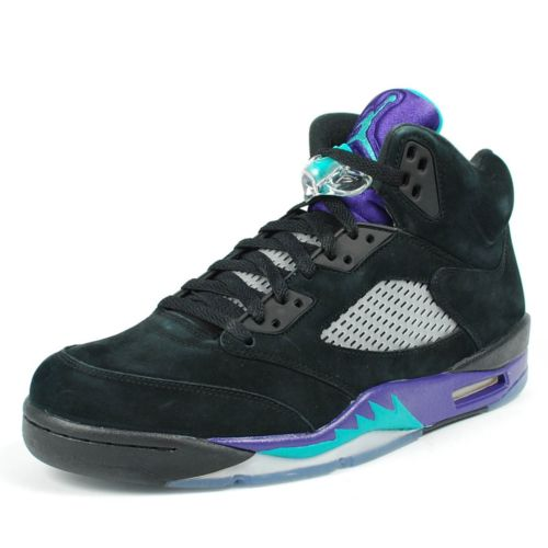 Air Jordan(エア ジョーダン) RETRO 5 V (136027-007)【海外取寄せ☆レア商品】Black/New Emerald ? Grape Ice メンズ・男性用