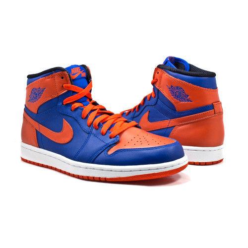 air jordan(エア ジョーダン) 1 retro high og new york knicks(ニューヨーク・ニックス) (555088-407)【海外取寄せ☆レア商品】 game royal/orange/white メンズ・男性用