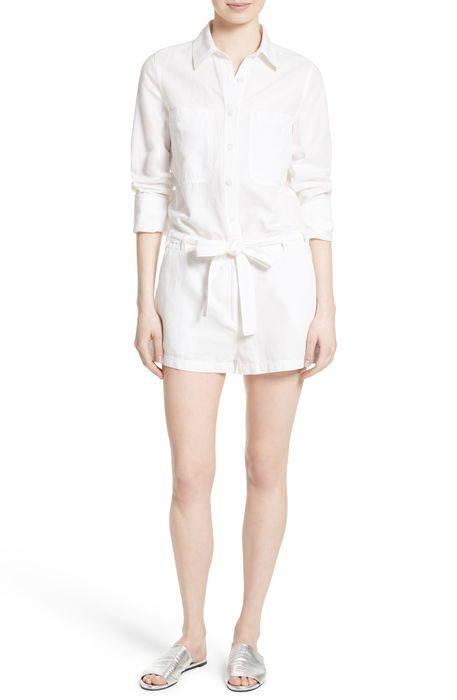 cotton linen romper コットン & リネン ロンパース サロペット レディースファッション オールインワン