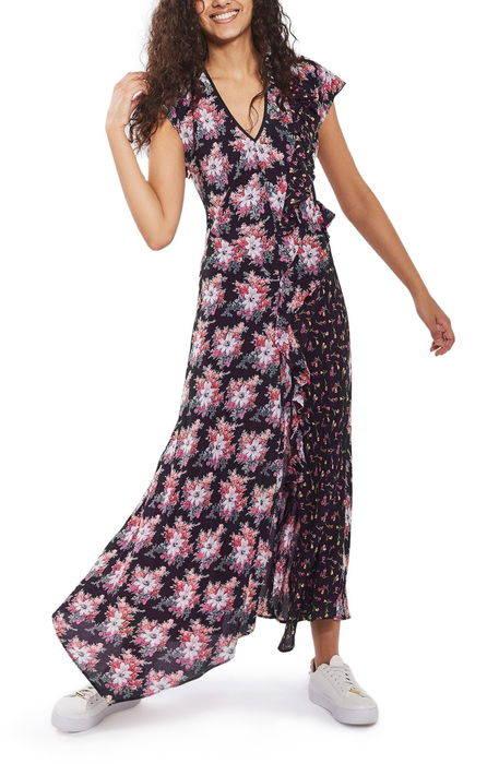 splice dring floral maxi dress スプライス フローラル マキシ ドレス ワンピース レディースファッション