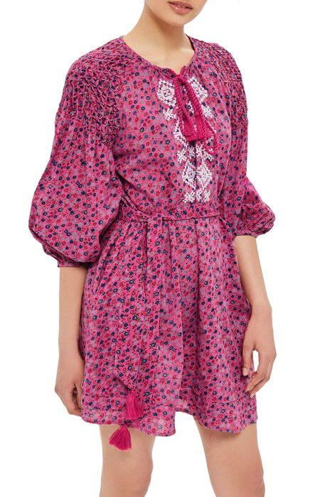 floral smock dress フローラル スモック ドレス ワンピース レディースファッション