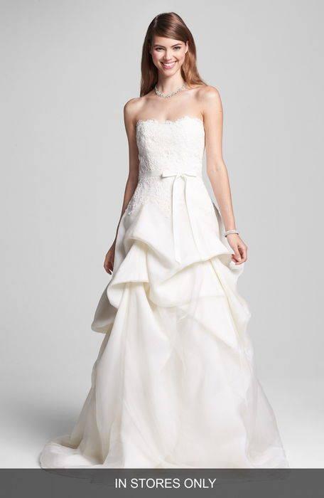 レース オーガンザ ドレス ワンピース & embroidered lace tiered organza dress レディースファッション