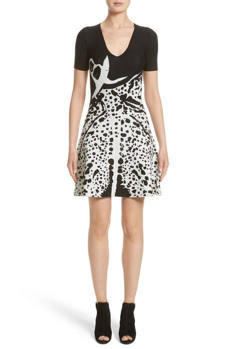 jacquard fit flare dress ジャガード フィット & フレアー ドレス ワンピース レディースファッション