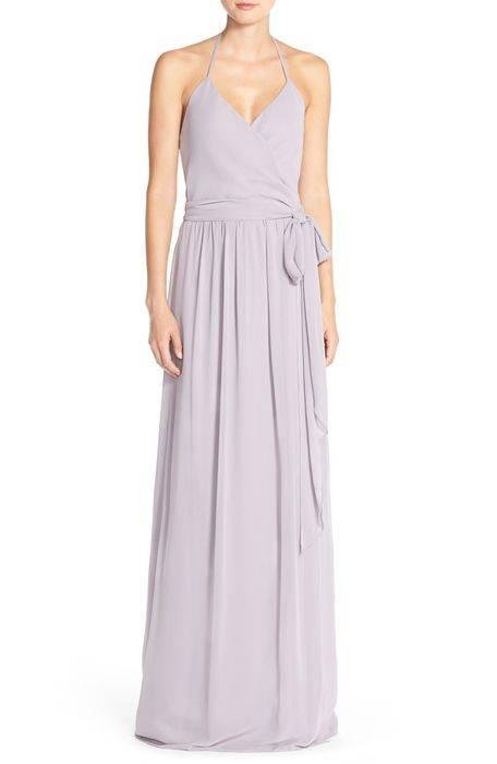 dc halter wrap chiffon gown '' ホルター ラップ シフォン ガウン ドレス レディースファッション