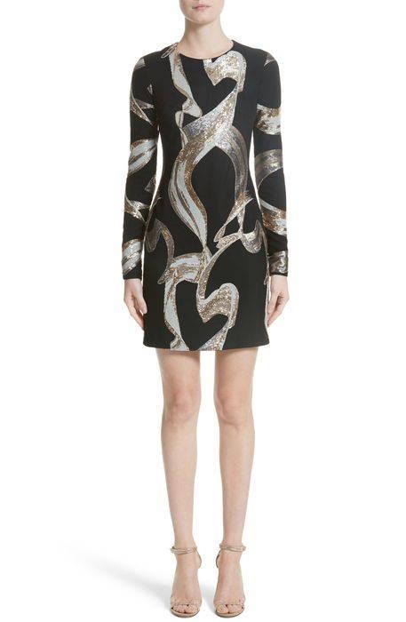 mixed metallic sequin cocktail dress ミックス メタリック カクテル ドレス ワンピース レディースファッション